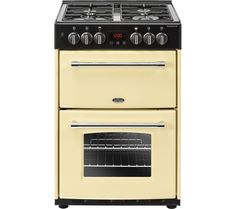 Buy Belling Farmhouse Double Oven Dual Fuel Mini Range Cooker - Cream 444444713 from Appliances Direct - the UK's leading online appliance specialist Dual Fuel Cooker, Gas Double Oven, Electric Oven, Electric Cooker, Range Cooker, How To Cook Pasta