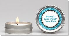 Zebra Print Blue - Baby Shower Candle Favors