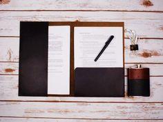 A4 Leather Folio / PERSONALISED Leather Folio / Leather Documents Holder / Horween Leather Folio / Leather Folder / Gift for Men /