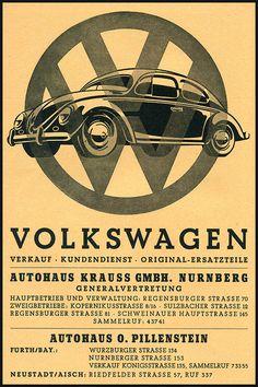 Volkswagen 1940s by GarageFabro on Etsy