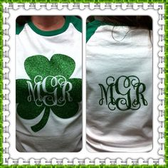 Monogramed Personalized St Patrick S Day Baseball Shirts