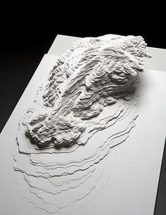 A Piece of Flat Globe (paper cutting) by Noriko Ambe Art Génératif, Map Art, Kirigami, Chinese Paper Cutting, Art Chinois, Landscape Model, Art Carte, Mind The Gap, Modelos 3d