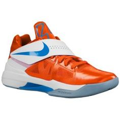 Nike Zoom KD IV - Men's - Basketball - Shoes - White/Photo Blue/Midnight Navy/Tour Yellow