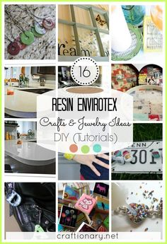 Resin Envirotex DIY Craft and Jewelry ideas