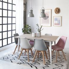 Chairs - scandinavian chair from Kenay Home Home Living, Apartment Living, Living Room Colors, Living Room Decor, Interior Design Living Room, Interior Decorating, Dinner Room, Dining Table Design, Dining Chairs