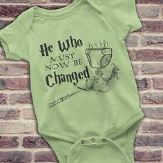 Funny Harry Potter Onesie Harry Potter Baby by KennieBlossoms