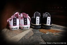 26bc17177109 His and hers custom Converse with our wedding date  ) Groom Converse