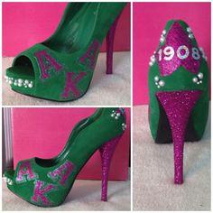 AKA pink and green heels