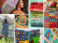 Create fantastic bright designs using these colourful fabrics