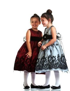 Daria Intricate Lace Embroidered Holiday Dress with Flower Sash for Girls « Dress Adds Everyday