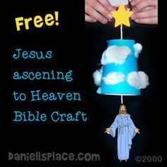 Free Jesus Ascendingn to Heaven Cup Craft from www.daniellesplace.com - Copyright 2000