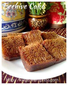 Kek Sarang Semut –Malaysian Beehive Cake or Honeycomb Cake (蜂窝蛋糕) Armenian Recipes, Irish Recipes, Armenian Food, Asian Recipes, Asian Snacks, Asian Desserts, Malaysian Food, Malaysian Recipes, Honeycomb Cake