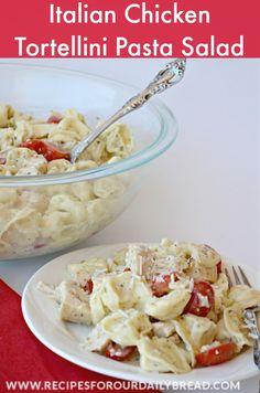 Italian Chicken Tortellini Pasta Salad