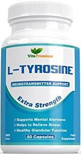 "Say NO to STRESS and LACK OF SLEEP - Customers say that Vita Premium L - Tyrosine can help with Stress, Anxiety, Lack Of Sleep, Fatigue and Prolonged Work. Many people call L - Tyrosine - ""All-Purpose Chill Pill"" due to the amazing health benefits it can provide UK MADE - Unlike many other L-tyrosine supplements, ours is produced right here in the UK to the highest standard of manufacturing in the world NO NONSENSE - No Artificial Flavour, Sweeteners, Colour or Preservatives THE RIGHT…"
