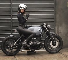"""When they say """"Babes shouldn't ride bikes""""  From @garage12motors #caferacerclub #caferacer #caferacerworld #bratstyle #motorgirl"""