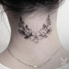 elegant-neck-flower-tattoo