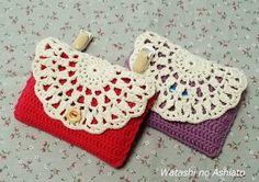 ドイリーみたいな 移動ポケットの作り方|編み物|編み物・手芸・ソーイング | アトリエ|手芸レシピ16,000件!みんなで作る手芸やハンドメイド作品、雑貨の作り方ポータル