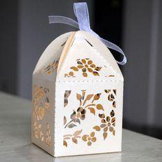 laser cut high quantity paper wedding souvenirs box