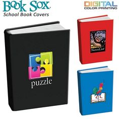 Promotional School Book Cover Full Color Digital #school #logo #advertising #bookcovers | Customized Book Covers | Promotional Book Covers