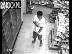 Man possessed by ghost caught on cctv at convenient store - YouTube