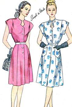 1940s Dress Pattern Simplicity 1684 Gored Skirt Cap by paneenjerez, $20.00