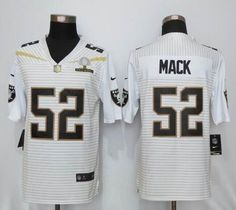 Oakland Raiders #52 Mack 2016 Pro Bowl White Elite Jerseys