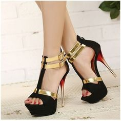 Double Ankle Strap Platforms