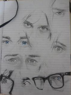 Drawings of Kurt Cobain's eyes. Kurt Cobain Art, Nirvana Kurt Cobain, Kurt Cobain Tattoo, Nirvana Band, Donald Cobain, Arte Sketchbook, Riot Grrrl, Art Hoe, Pretty Art