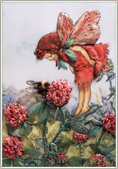 Red Clover Fairy by Di van Niekerk - gorgeous embroidery and stumpwork