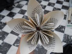 How to make paper wedding flowers from book pages, perfect for your wedding someday @Natalie Jost Shue