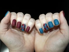 Fourth of July Nail Art (1) by Samarium's Swatches, via Flickr