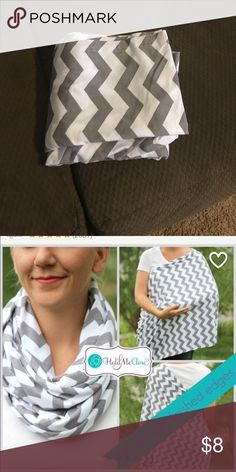 nursing happens infinity breastfeeding scarf chevron scarf brand new has been washed once and never used. baby never took on to be able to use. nursing happens Accessories Scarves & Wraps