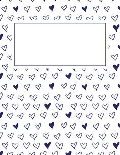Free printable navy blue heart binder cover template. Download the cover in JPG or PDF format at http://bindercovers.net/download/navy-blue-heart-binder-cover/