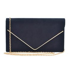 Dasein Ladies' Velvet Evening Clutch Handbag Formal Party Clutch For Women With Chain Strap (Black): Handbags: Clutches For Women, Wedding Purse, Black Clutch, Gold Polish, Clutch Wallet, Clutch Bags, Purse Styles, Evening Bags, Lady