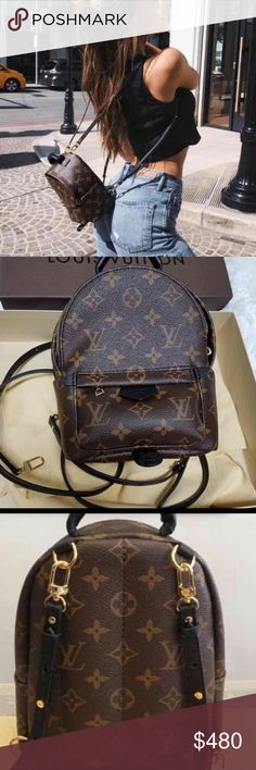 eb3a4d609ba7 Louis Vuitton Mini Backpack Whole set comes with LV box. The Mini Palm  Springs backpack one in soft Monogram canvas sports a multi-positional  strap for ...