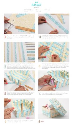 Make your own woven basket #shavuot or #purim