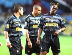 """With his lads """"Cholo"""" Simeone and Taribo West"""