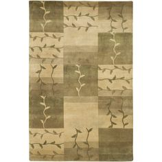 Hand-Knotted Multicolored La Crosse Semi-Worsted New Zealand Wool Area Rug (5' x 8'), Beige, Size 5' x 8'