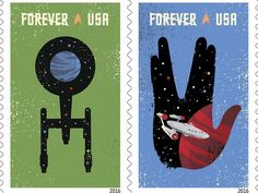 Star Trek' 50th anniversary stars on postage stamps in 2016