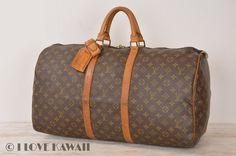 Louis Vuitton Monogram Keepall 55 Travel Bag M41424