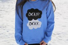 I'd love this so so so much... The Fault In Our Stars Okay Okay Blue by PerksOfBeingAWeasley, $30.00