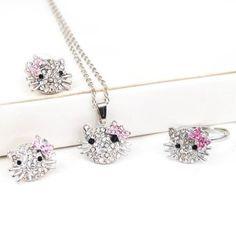 Hello Kitty jewelry set $1.72 shipped!