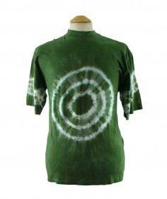 "Green Tie Dye T shirt #vintagefashion #vintage #retro #vintageclothing #90s #1990s #vintagetshirts <link rel=""canonical"" href=""http://www.blue17.co.uk/>"