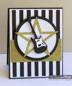 Journal It - Playlist, Accent It - Rock and Roll Die-namics, Horizontal Stitched Strips Die-namics, Pierced Circle STAX Die-namics, Stripes Cover-Up Die-namics, Stripes Stencil - Melody Rupple #mftstamps