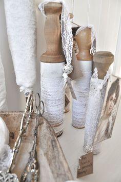 spools of lace Antique Lace, Vintage Lace, Vintage Sewing, Shabby Chic Crafts, Vintage Crafts, Vintage Laundry, Crochet Quilt, Sewing Baskets, Passementerie