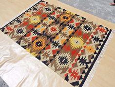 Hand-Woven Tribal 4x6 Anatolian Kilim Dhurrie Turkish Oriental Area Rug 120x150 #Handmade #TraditionalPersianOriental