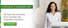 Find the most hospitality jobs in Canada on Workopolis