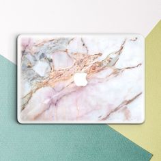 Office Decor Idea - Add A Touch Of Marble // Turn your laptop into a piece of natural beauty with a marble inspired laptop decal or case. Not only will it protect your computer it'll also make it completely your own and so stylish.