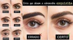 10 erros que deixam a sobrancelha esquisita: revista faz comparações em fotos - Bolsa de Mulher