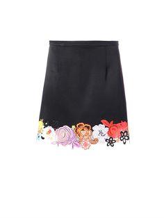 Christopher Kane Floral lace hem skirt